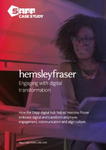 Hemsley Fraser Case Study - transforming employee engagement